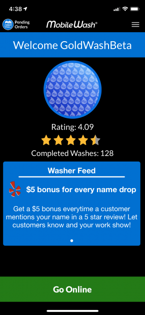 MobileWash App Update