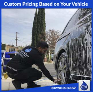 custom pricing based on your vehicle