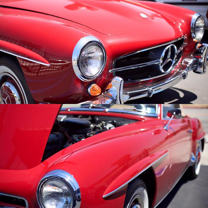 Vintage Red Mercedes MobileWash Blog 5 Car Wash Hacks