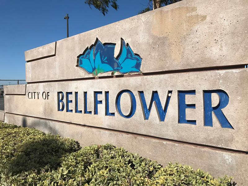 Bellflower City Sign